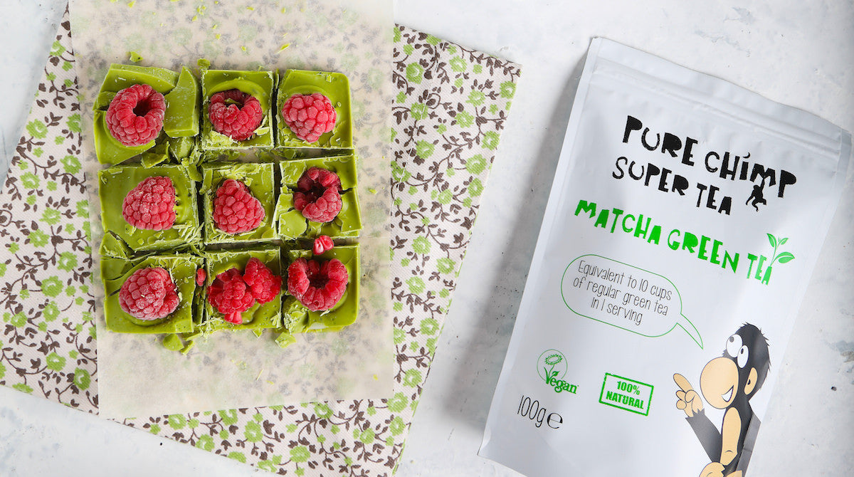 raspberry matcha chocolate bar
