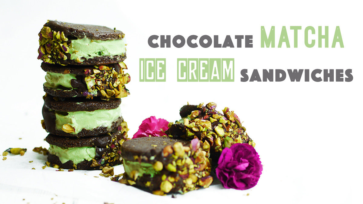 matcha ice cream sanwiches