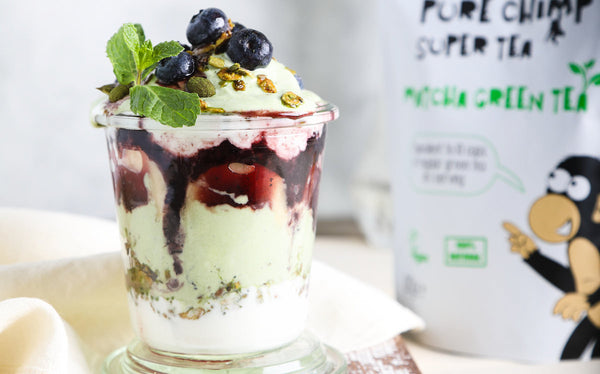 Parfait With Matcha & Berries