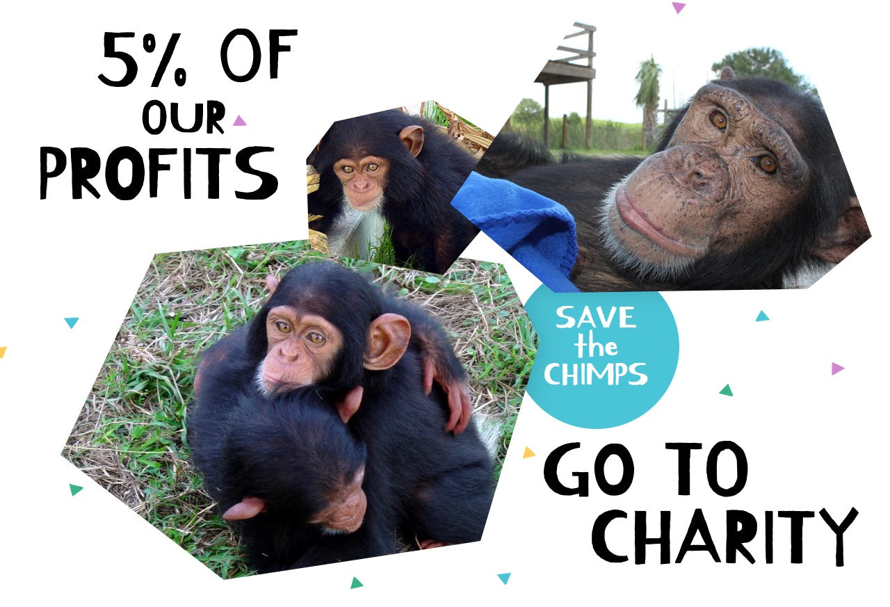 charity image with chimps