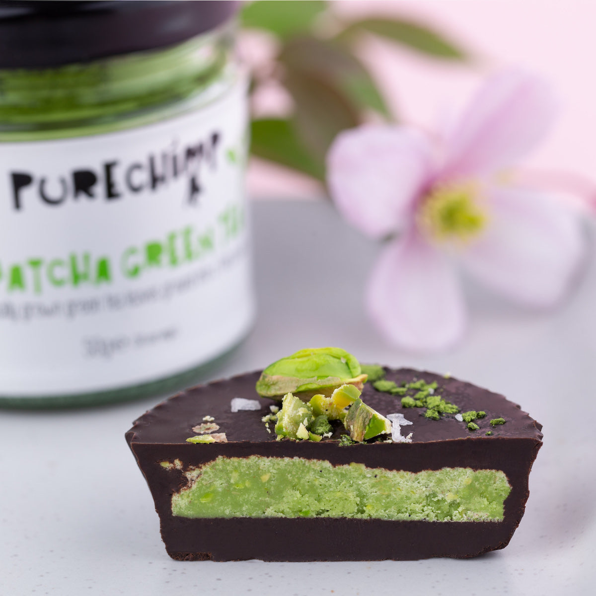 matcha chocolate cups