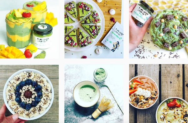matcha green tea collage instagram