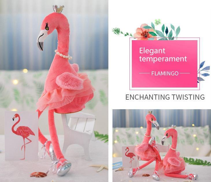 Elegant singing flamingo Plush Toy