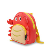 NOHOO Kid Crab Cute 3D Design School Bag Waterproof Preschool Backpack Bags