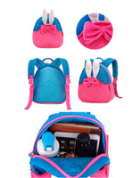 NOHOO Kid Little Rabit 3D Design Travel Bag Waterproof Preschool Backpack Bags