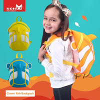 NOHOO Kid Clown Fish 3D Design Children Boy Travel School Bag Kindergarden Bag