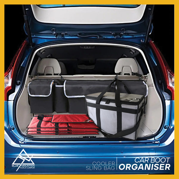 45L thermal insulated car boot organiser / delivery bag