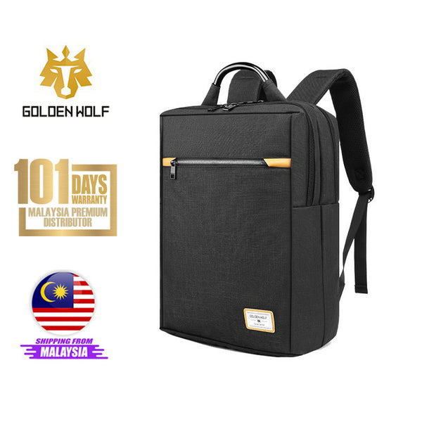 "Golden Wolf Raven Backpack (15.6"" Laptop)"