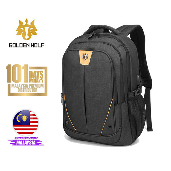"Golden Wolf Falcon Backpack (15.6"" Laptop)"