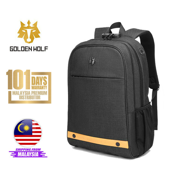 "Golden Wolf Trident Backpack (15.6"" Laptop)"