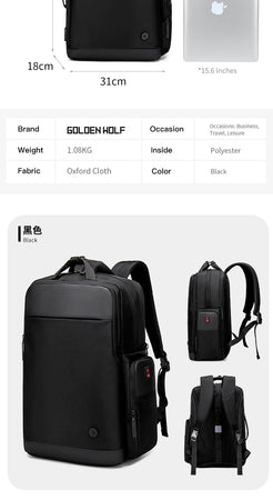 "Golden Wolf Agility Backpack (15.6"" Laptop)"