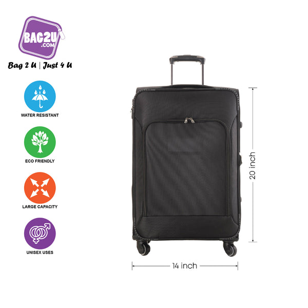 Bag2u 【HOT】 Travel Luggage Bag 20 Inch 4 Wheeler Trolley Bag Suitcases Big Capacity Quality Assurance
