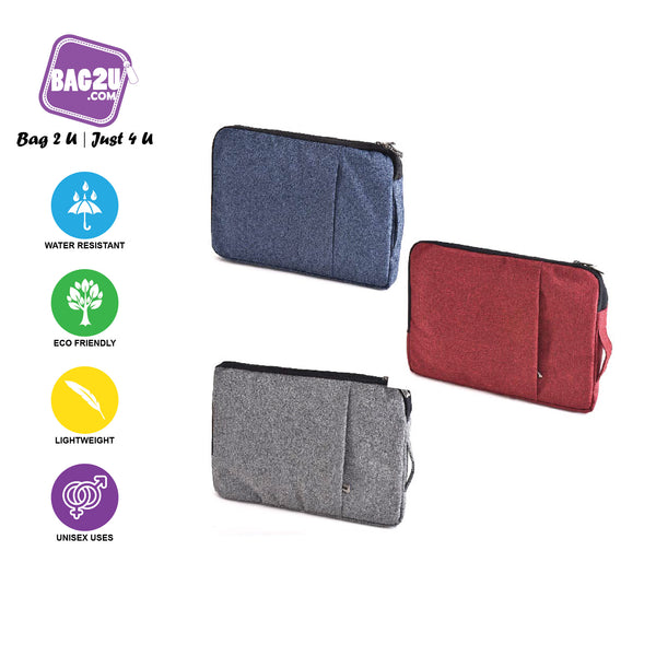 Bag2u 14 Inch Tablet Sleeve Smooth Material Velvet Inner Lining Light Weight