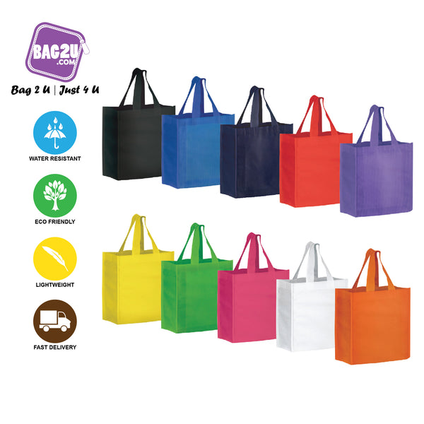 14 Inch 90gsm Eco Friendly Reusable Go Green Shopping Bag Handbag Woman Non-Woven Bag