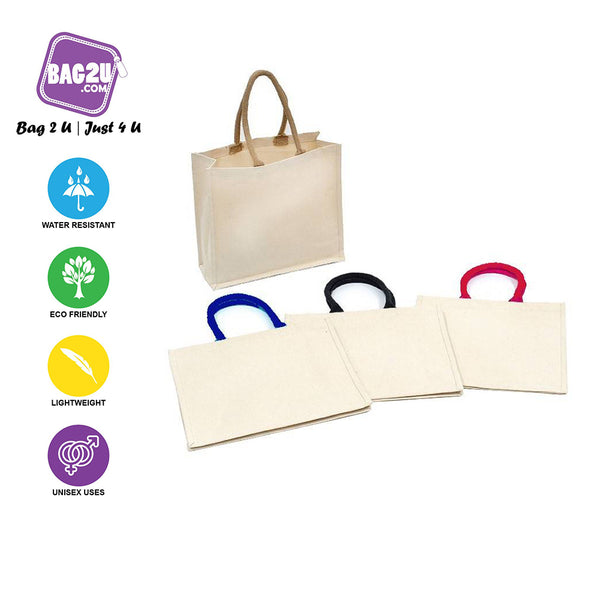 Laminated Canvas Tote Bag