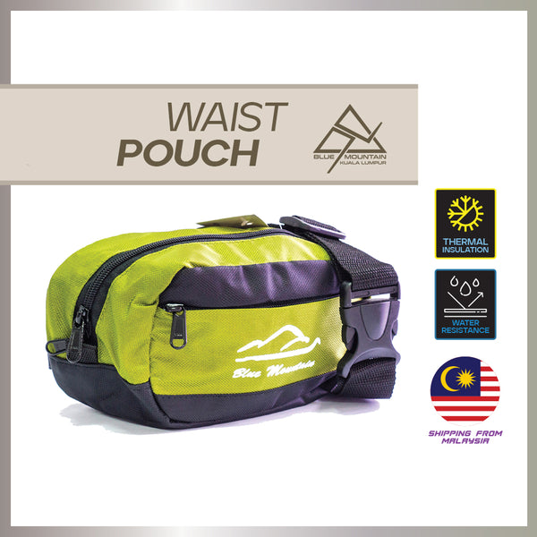 Blue Mountain 2L Waist Pouch Signature Air Ventilation YKK Zipper Out door  Ready Stock Malaysia