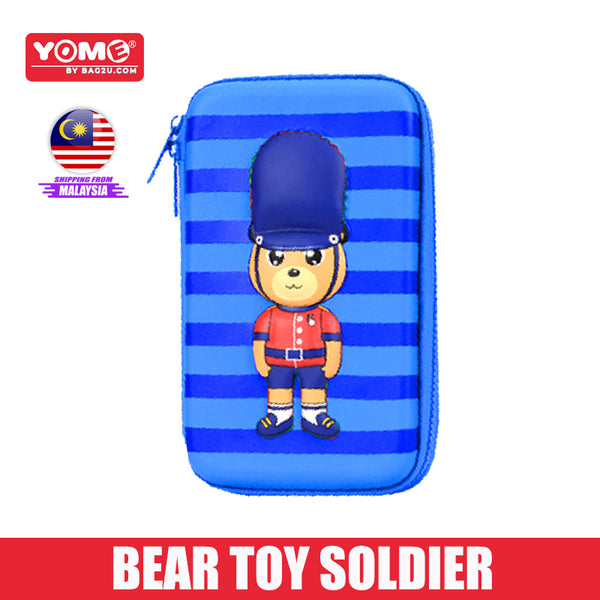 Yome UK Soldier Pencil Case EVA+PU Material Primary School Kids