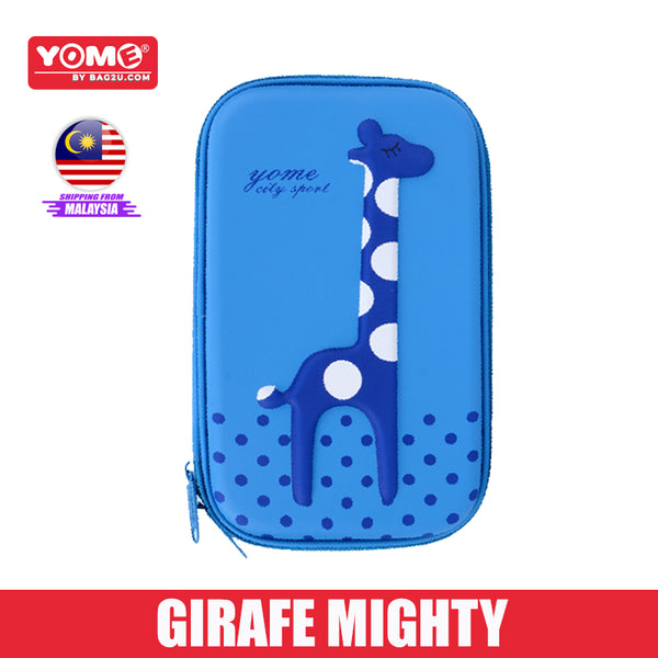 Yome Giraffe Pencil Case EVA+PU Material Hard Casing Back To School