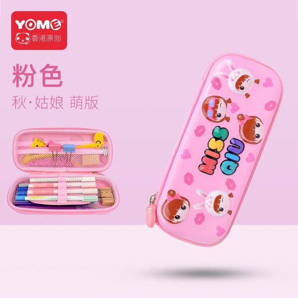 Yome Miss Qiu Pencil Case EVA+PU Material Durable Primary School Kids Girl