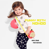 NOHOO Kid 3D Crab Red Design Children Ocean Theme Boy/Gir Sling Crossbody Travel