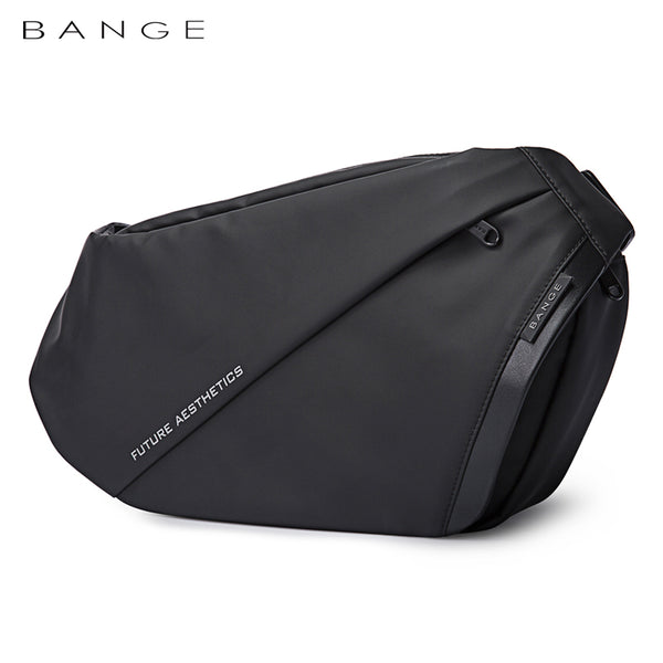 "Bange Confi Men Anti-theft Lock Sling Bag Fashion Chest Pack Waterproof USB Crossbody Bag (9.5"" tablet)"