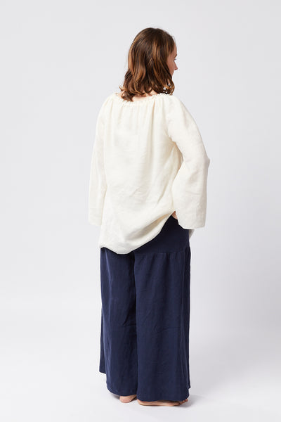 PETTICOAT PANTS | ANTIQUE WASH NAVY LINEN