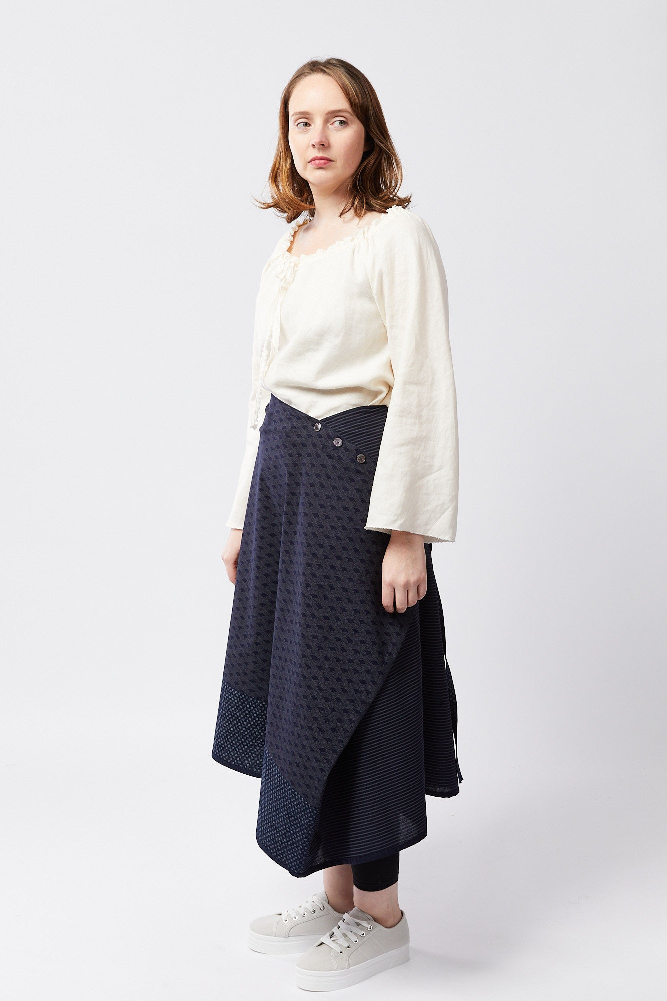 NARA SKIRT | SASHIKO BLUES