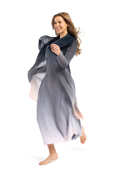 COLLARE COAT | CHARCOAL TO LIGHT OMBRE
