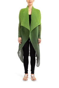 COLLARE COAT | WASABI TO MOSS OMBRE