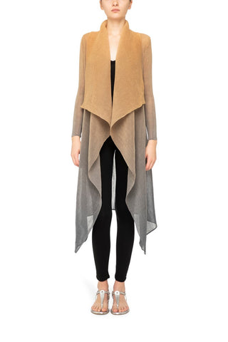 COLLARE COAT GOLD-CHARCOAL