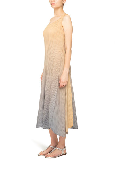 LONG ESTRELLA DRESS GOLD-CHARCOAL