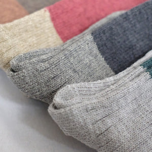BOSTON WOOL COTTON SLAB SOCK