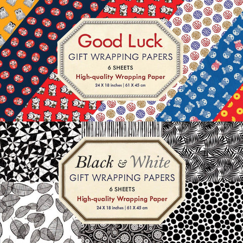 WRAPPING PAPERS X 6 SHEETS