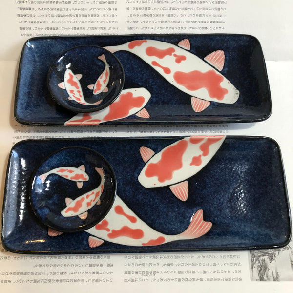 AIZOME KOI CARP PLATES AND DISHES