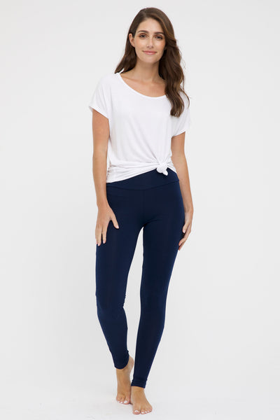 SOFT BAMBOO LEGGINGS | NAVY