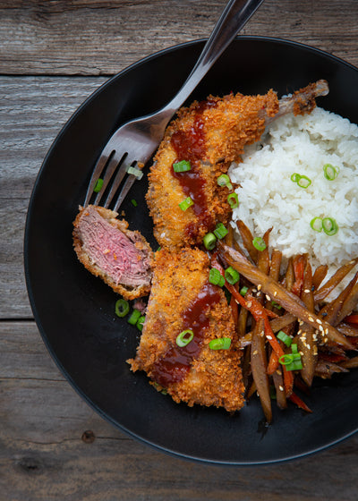 Sharp-tailed Grouse Katsu with Japanese Kinpira