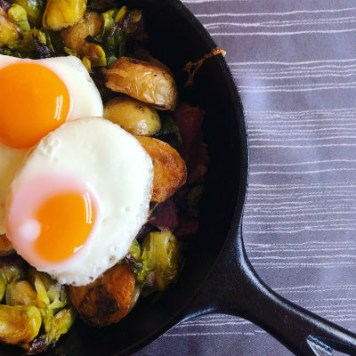 Corned Venison and Brussel Sprout Hash