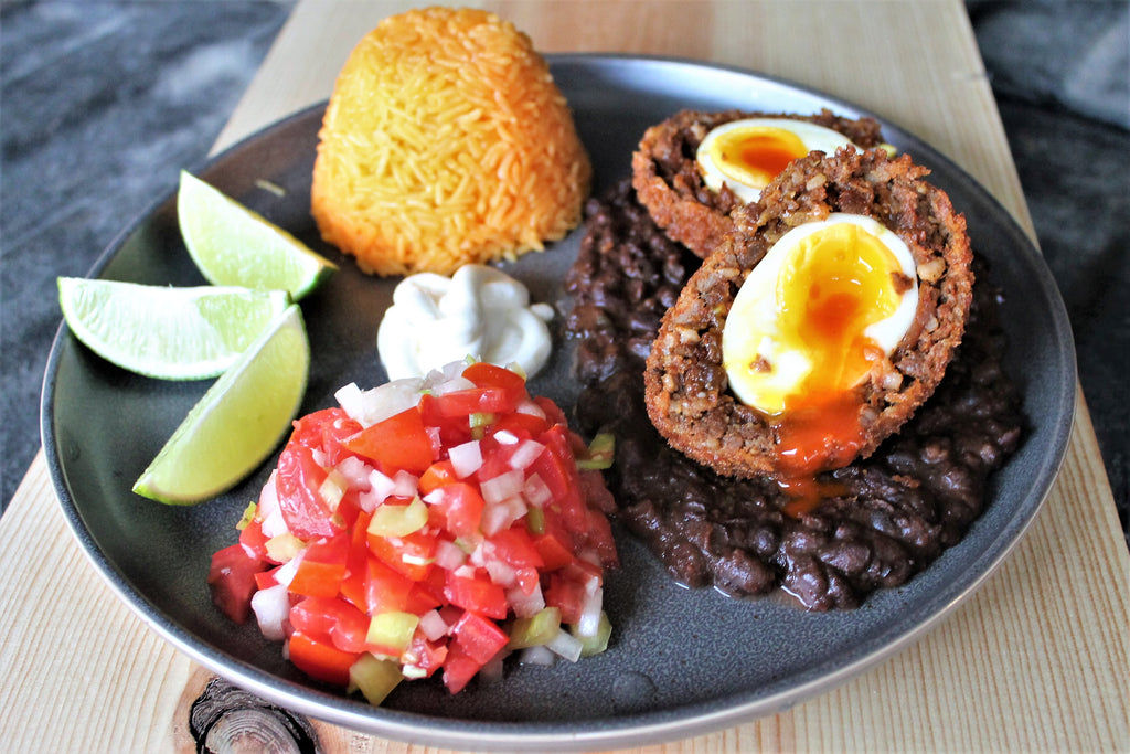 Huevos Rancheros Scotch Eggs
