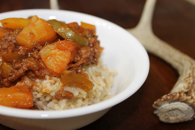 Simple Sweet and Sour Ground Venison