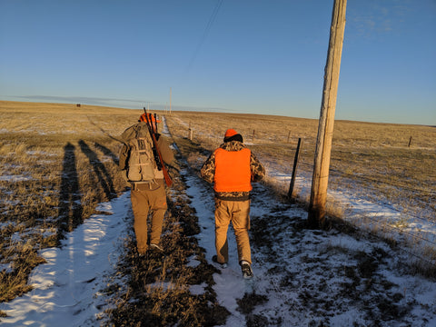 Father and son first pronghorn hunt together