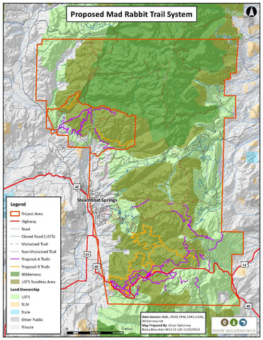 Proposed Mad Rabbit Trail - Source: Rocky Mountain Wild
