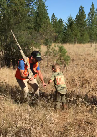 Colt and his son hunting