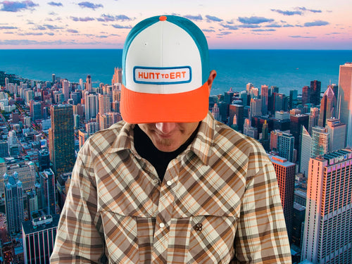 Logo Hat - Blue/Orange