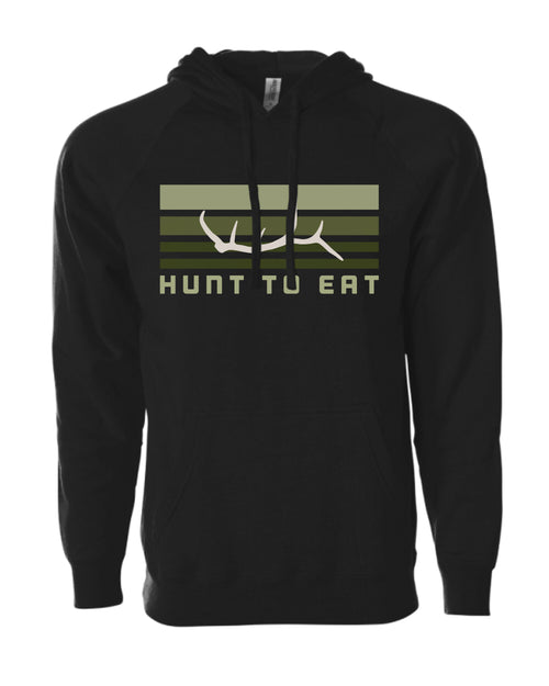 Elk Antler Hooded Sweatshirt