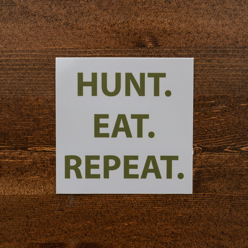 Hunt. Eat. Repeat. Sticker