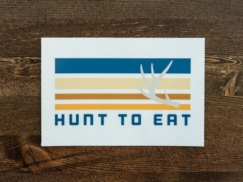 White Tail Antler Sticker