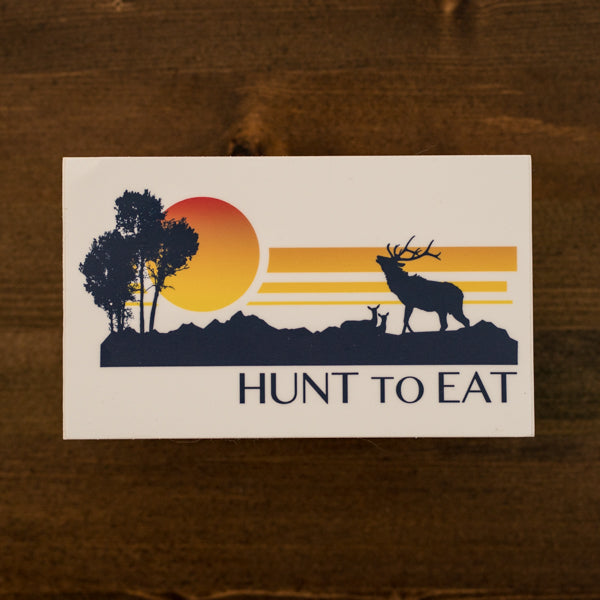 Elk Sunset Sticker