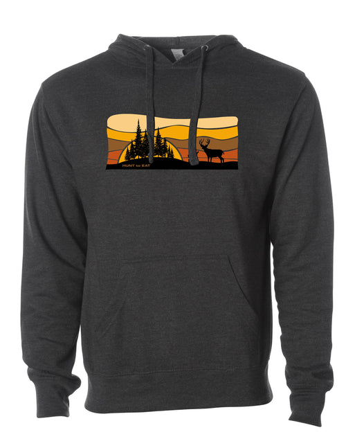 Sunrise Mule Deer Hooded Sweatshirt