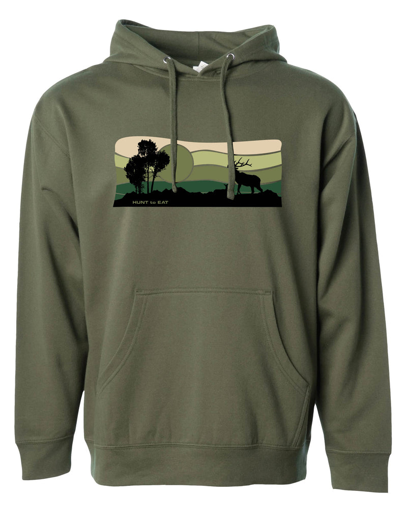 Sunrise Elk Hooded Sweatshirt