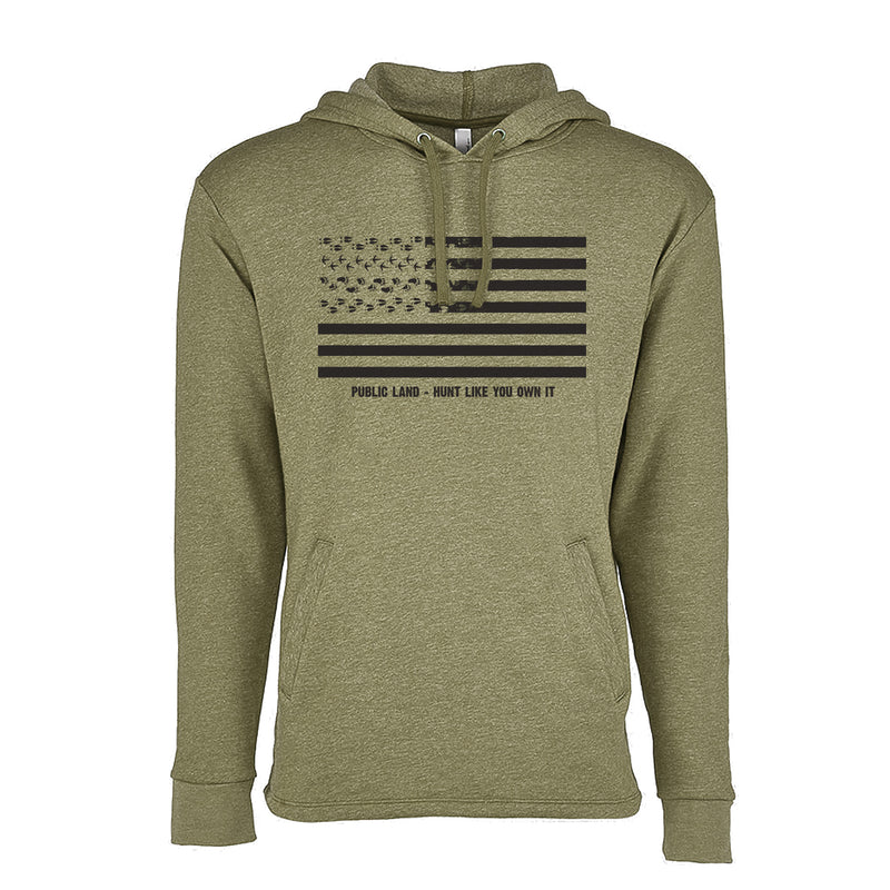 Fresh Tracks Flag Hooded Sweatshirt